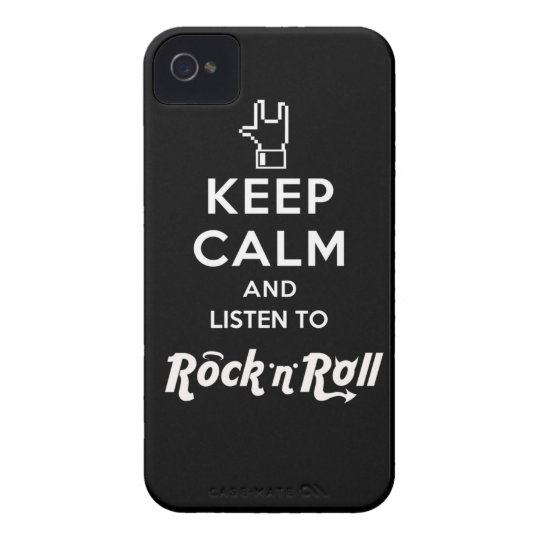 Capa iPhone4 light Keep Calm... Rock 'n' Roll