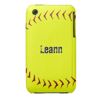 Capa iphone 3 do softball de Fastpitch