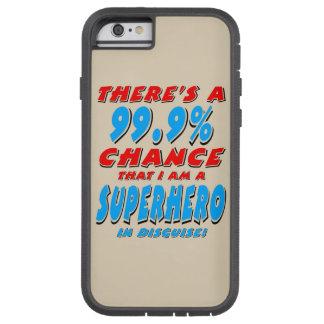 Capa iPhone 6 Tough Xtreme 99,9% Eu sou um SUPER-HERÓI (o preto)
