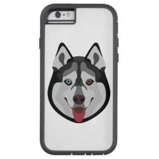 Capa iPhone 6 Tough Xtreme A ilustração persegue o rouco Siberian da cara