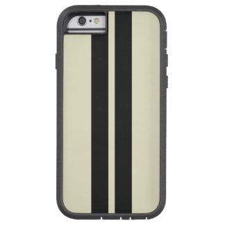 Capa iPhone 6 Tough Xtreme Algum preto branco da pimenta da cor que compete
