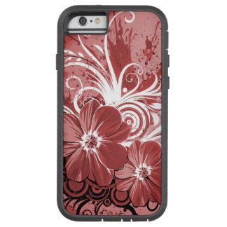 Capa iPhone 6 Tough Xtreme Arte vermelha bonita do vectror do abstrato do