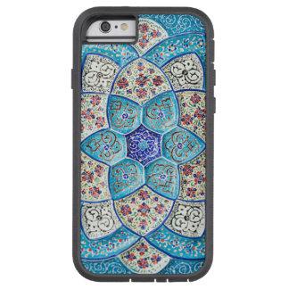 Capa iPhone 6 Tough Xtreme Azul de turquesa marroquino tradicional, branco,