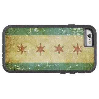 Capa iPhone 6 Tough Xtreme Bandeira patriótica gasta de Chicago