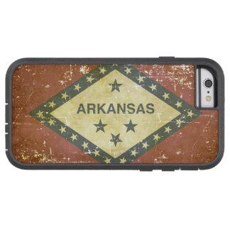 Capa iPhone 6 Tough Xtreme Bandeira patriótica gasta do estado de Arkansas