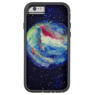 Capa iPhone 6 Tough Xtreme Caixa do planeta, arte do cosmos da aguarela