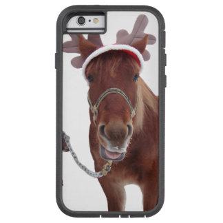 Capa iPhone 6 Tough Xtreme Cervos do cavalo - cavalo do Natal - cavalo