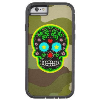 Capa iPhone 6 Tough Xtreme Crânio resistente do mexicano da camuflagem da