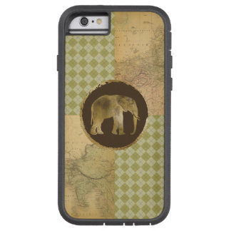 Capa iPhone 6 Tough Xtreme Elefante africano no mapa e no Argyle