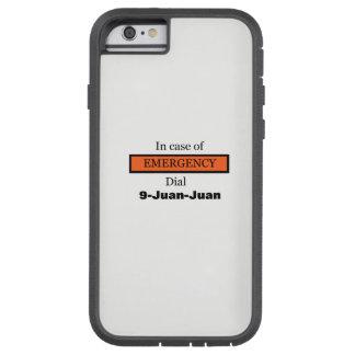 Capa iPhone 6 Tough Xtreme Em caso de urgência seletor 9-Juan-Juan