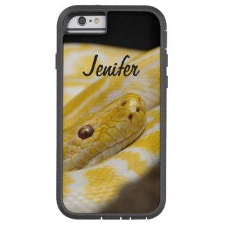 Capa iPhone 6 Tough Xtreme Fim amarelo feito sob encomenda do cobra acima dos