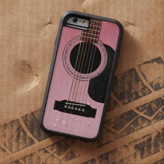 Capa iPhone 6 Tough Xtreme Guitarra acústica do rosa do rosa