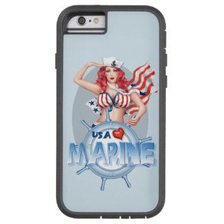 "Capa iPhone 6 Tough Xtreme iPhone MARINHO ""SEXY"" 6/6s Xtreme resistente dos"