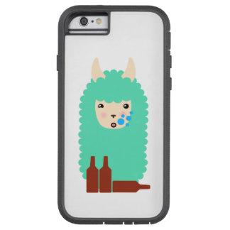 Capa iPhone 6 Tough Xtreme Lama bêbedo de Emoji (cerveja)