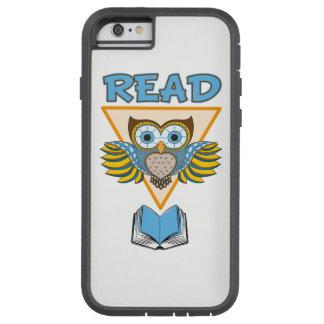 Capa iPhone 6 Tough Xtreme Leia a coruja azul do ouro dos livros