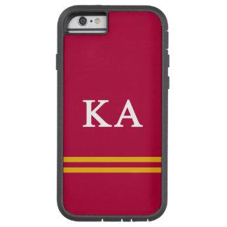 Capa iPhone 6 Tough Xtreme Listra alfa do esporte da ordem   do Kappa