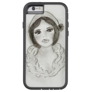 Capa iPhone 6 Tough Xtreme Menina Ruffled do Flapper