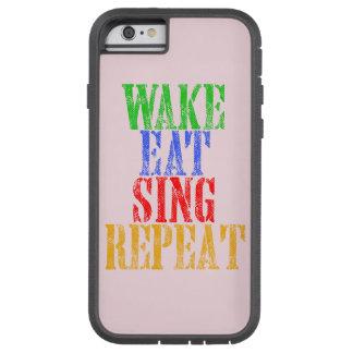 Capa iPhone 6 Tough Xtreme O acordar come canta a repetição