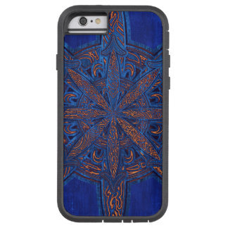 Capa iPhone 6 Tough Xtreme Ouro no caos azul