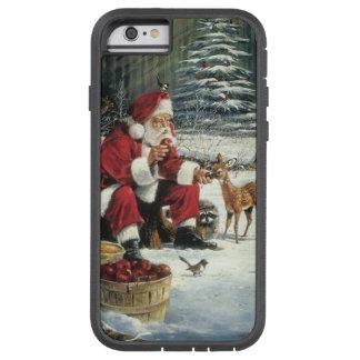Capa iPhone 6 Tough Xtreme Pintura de Papai Noel - arte do Natal