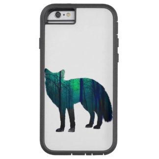 Capa iPhone 6 Tough Xtreme Silhueta do Fox - raposa da floresta - arte da