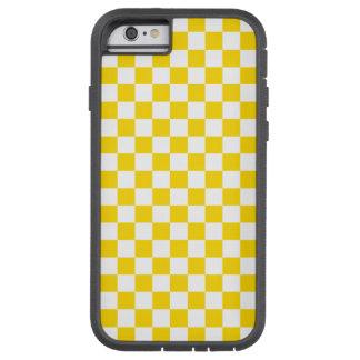 Capa iPhone 6 Tough Xtreme Tabuleiro de damas amarelo