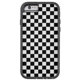 Capa iPhone 6 Tough Xtreme Tabuleiro de damas preto e branco