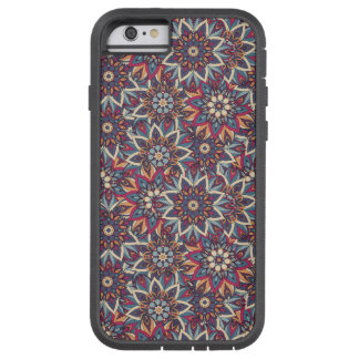 Capa iPhone 6 Tough Xtreme Teste padrão floral étnico abstrato colorido da