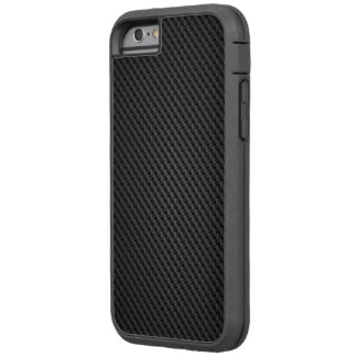 Capa iPhone 6 Tough Xtreme Textura preta do synthetic de para-aramid