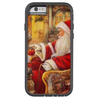 Capa iPhone 6 Tough Xtreme Trenó do papai noel - ilustração de Papai Noel