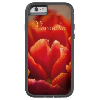 Capa iPhone 6 Tough Xtreme Tulipa vermelha
