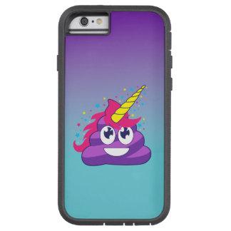 Capa iPhone 6 Tough Xtreme Unicórnio azul & roxo Poo Emoji de Ombre