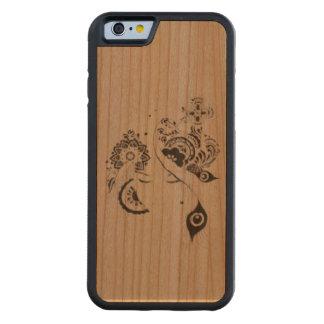 Capa iphone 7 madeira floral doodle