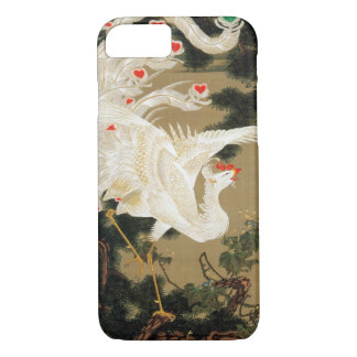Capa iPhone 8/ 7 25. 老松白鳳図, pinheiro do 若冲 e chinês Phoenix, Jakuc
