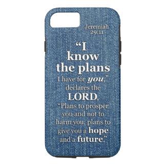 Capa iPhone 8/ 7 29:11 de Jeremiah eu sei as citações do verso da