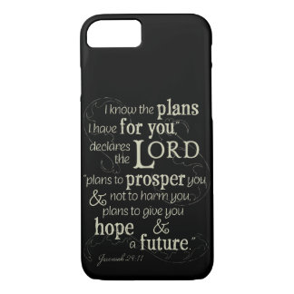 Capa iPhone 8/ 7 29:11 de Jeremiah eu sei os planos que eu tenho
