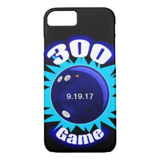 Capa iPhone 8/ 7 300 azuis do jogo, gráfico da bola de boliche