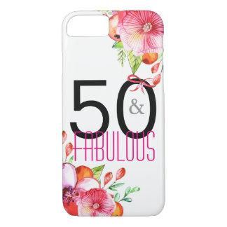 Capa iPhone 8/ 7 50 e 50th festa de aniversário elegante fabulosa