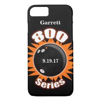 Capa iPhone 8/ 7 800 séries em preto e laranja com nome