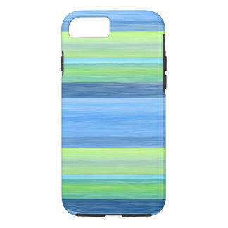Capa iPhone 8/ 7 A aguarela do verde limão de turquesa listra o