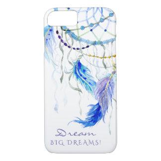 Capa iPhone 8/ 7 A aguarela empluma-se sonhos grandes do sonho do