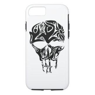 Capa iPhone 8/ 7 A arte abstrata do crânio formou por pessoas e por