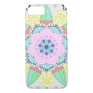 Capa iPhone 8/ 7 A arte da mandala modela a ioga floral OM da flor