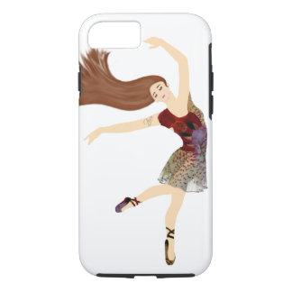 Capa iPhone 8/ 7 A bailarina floral aprecia a dança
