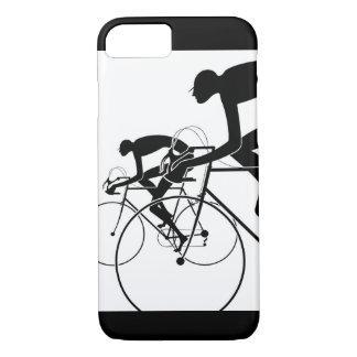 Capa iPhone 8/ 7 A bicicleta retro mostra em silhueta 2 1986
