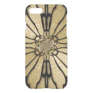 Capa iPhone 8/7 A borboleta preta do ouro voa a ilusão óptica