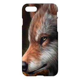 Capa iPhone 8/7 A cabeça de uma pintura do lobo