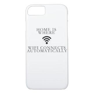 Capa iPhone 8/ 7 a casa é o lugar onde… o wifi conecta