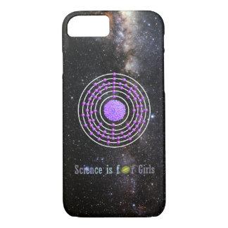 Capa iPhone 8/ 7 A ciência do átomo da platina é para meninas