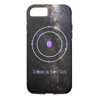 Capa iPhone 8/ 7 A ciência do átomo de carbono é para meninas